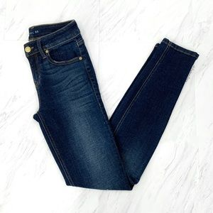 Level 99- Dark Washed Distressed Skinny Jeans 25